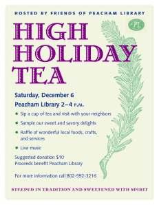 2014 Holiday Tea