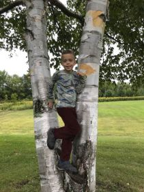 Ari-Morages-in-birch-trees-selfie_Approved for web_Peacham-Elementary_9.11.2018